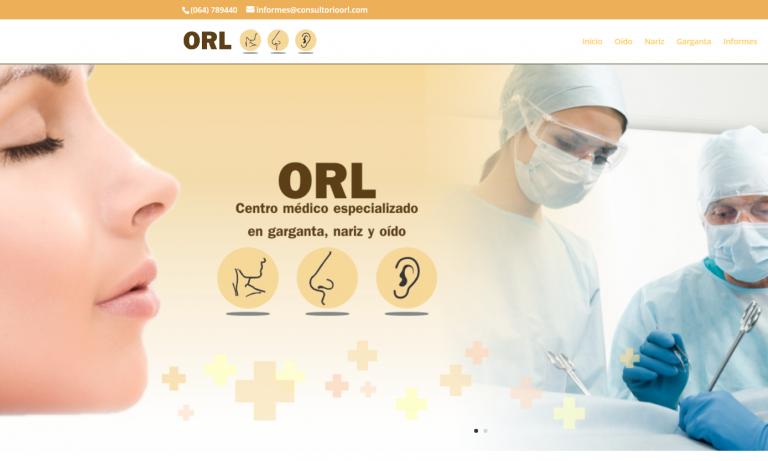 consultorio orl pantallazo web