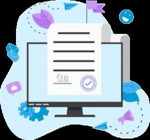 computadora desarrollo web vector