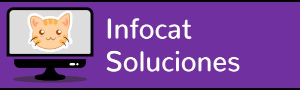 Logotipo largo Infocat Soluciones sac