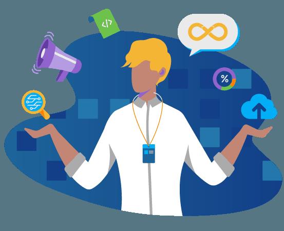 vector desarrollo web azul