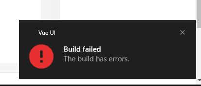 Vue cli build fallado